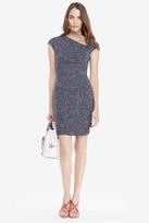 Diane von Furstenberg Amrita Ruched Silk Jersey Sheath Dress