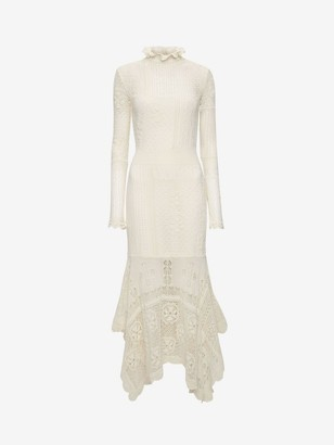 Alexander McQueen Patchwork Lace Knitted Dress