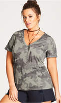 City Chic Camouflage Top