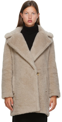 Max Mara Beige Alpaca and Wool Fiocco Coat