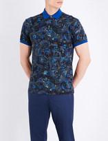 Etro Floral cotton-piqué polo shirt