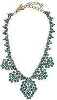 Oscar de la Renta Peacock Crystal Collar Necklace