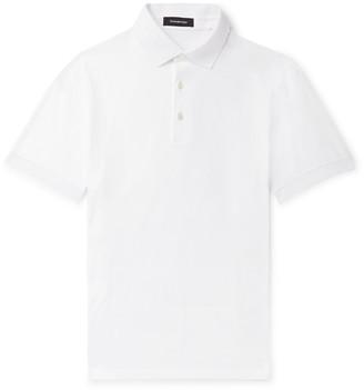 Ermenegildo Zegna Slim-Fit Cotton-Jersey Polo Shirt