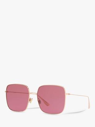 Christian Dior DiorStellaire1 Women's Square Sunglasses, Copper Gold/Pink