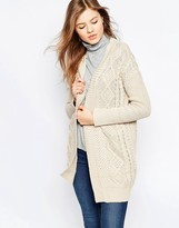 B.young Cable Knit Cardigan