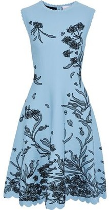 Carolina Herrera Scalloped Floral-jacquard Dress