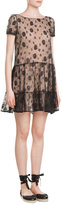 RED Valentino Lace Dress with Self-Tie Back