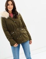 Dorothy Perkins Short Luxe Parka