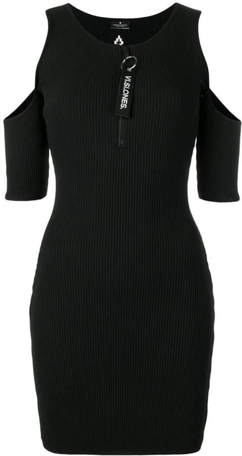 Marcelo Burlon County of Milan cold shoulder dress