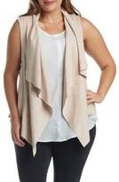 Tart Plus Size Women's Paz Faux Suede Drape Front Vest