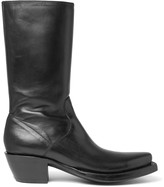 Vetements + Lucchese Cuban-Heel Leather Boots