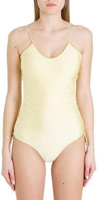 Oseree Contrasting Trim One-Piece Swimsuit