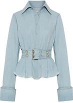 Marques Almeida Marques' Almeida - Oversized Frayed Cotton-chambray Shirt - Light denim