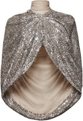 Magda Butrym Medford Sequined Cape Blouse