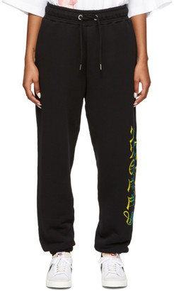 Palm Angels Black Hue Gothic Logo Lounge Pants
