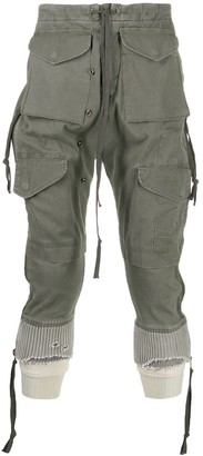 Greg Lauren Drop Crotch Trousers