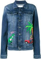 Mira Mikati rainforest embroidered denim jacket
