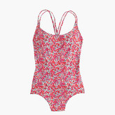 J.Crew Long torso strappy one-piece swimsuit in Liberty Art Fabrics Wiltshire print