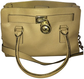 Michael Kors Hamilton Beige Leather Handbags