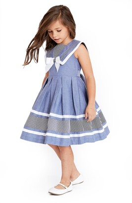 Iris & Ivy Kids' Chambray Nautical Dress