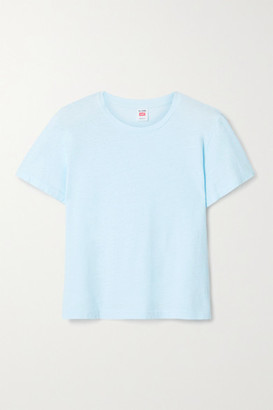 RE/DONE + Hanes Classic Cotton-jersey T-shirt - Sky blue