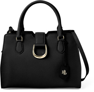 Ralph Lauren Medium Pebbled Leather Satchel