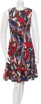 Marni Floral Print A-Line Dress