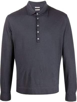 Massimo Alba Long Sleeve Polo Top