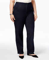 Karen Scott Plus Size Denim Trousers, Only at Macy's