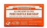Dr. Bronner's Dr Bronner Organic Tea Tree Soap Bar 140g (PACK OF 6)