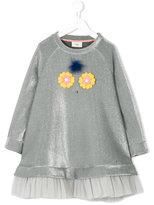 Fendi flower applique dress
