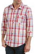 Michael Stars Checked Linen-blend Woven Shirt.