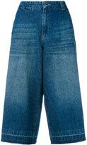 Twin-Set cropped denim trousers - women - Cotton/Spandex/Elastane - 25