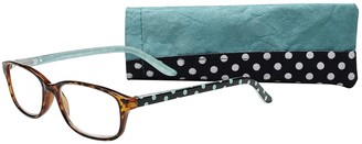 Select A Vision Select-A-Vision Women's Victoria Klein 9082 Pink Square Reading Glasses 33 mm + 2.5