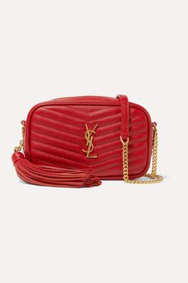Saint Laurent Lou Mini Quilted Textured-leather Shoulder Bag - One size