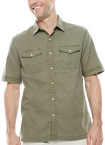 ST. JOHN'S BAY Short-Sleeve Crosshatch Shirt
