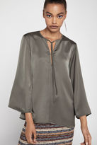 BCBGeneration Bell-Sleeve Sliver Top