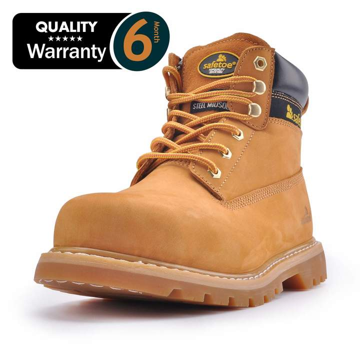 85839910ec9 SAFETOE Work Boots for Men Steel Toe Safety Shoes - M8180 Women Leather  Wide Width Safety Toe Boots