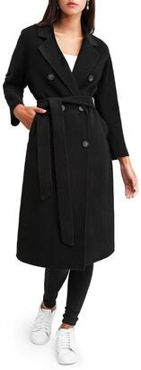 Belle & Bloom Boss Girl Double-Breasted Wool Coat