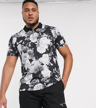 Bolongaro Trevor floral polo shirt-Black