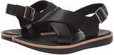Kork-Ease Ease Canoe (Black Full Grain Leather) Women's Sandals