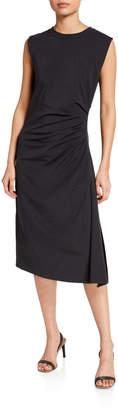 Brunello Cucinelli Ruched Cotton Jersey Dress