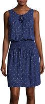 Liz Claiborne Smock Waist Tank Dress