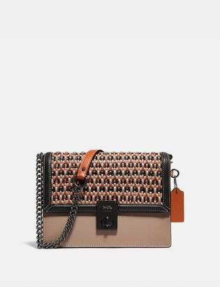 Coach Hutton Shoulder Bag With Weaving