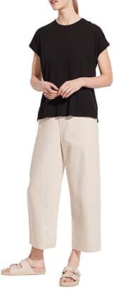 Vince Short Sleeve Relaxed Dolman (Black) Women's Clothing