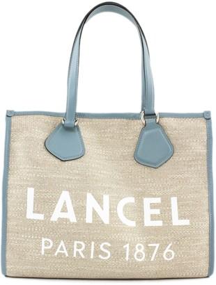 Lancel Light Blue And Jute Summer Bag