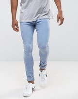 MANGO Man Skinny Jeans In Light Wash