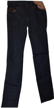 McQ Blue Cotton - elasthane Jeans for Women