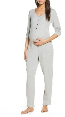 Belabumbum Maternity/Nursing Henley Jumpsuit