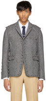 Thom Browne Black & White Assembled 220 Button Modular Blazer